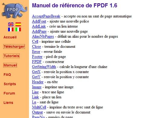 Générer du PDF en PHP