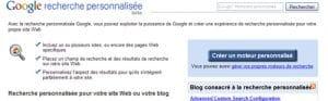 Mettez un moteur Google sur votre site