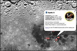 La Lune en 3D avec Google Moon