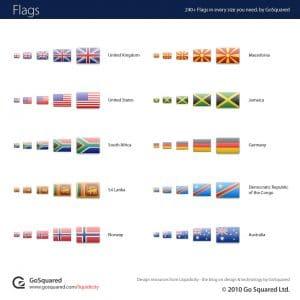 Un set de 2400 drapeaux des pays du monde