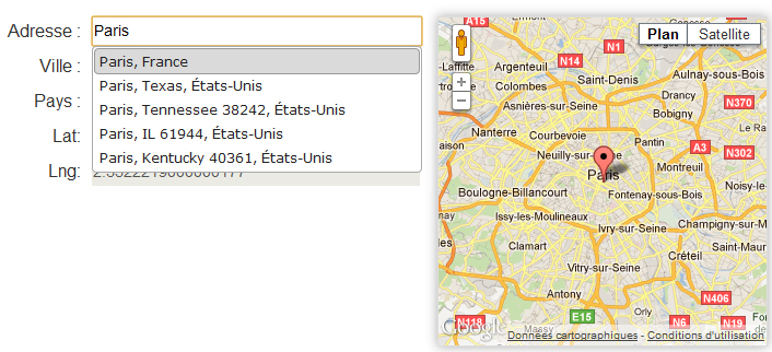 Address Picker : un plugin jQuery d'autocomplétion utilisant Google Maps