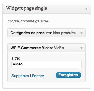 Ajouter une vidéo à vos catégories WP e-Commerce