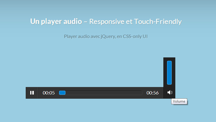 Un player audio Responsive et Touch-Friendly