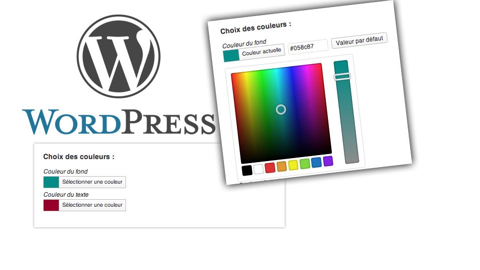 Tutoriel : Ajouter un champ color picker dans vos plugins ou thèmes WordPress