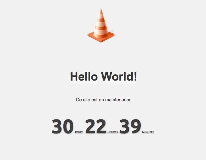 WP Maintenance : page de maintenance
