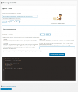 Mise en page Send PDF for CF7