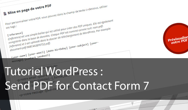 Tutoriel Send PDF for Contact Form 7
