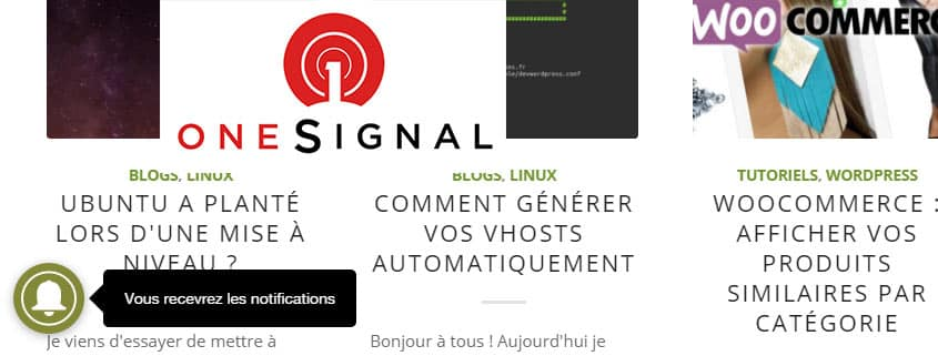 Notifications avec OneSignal